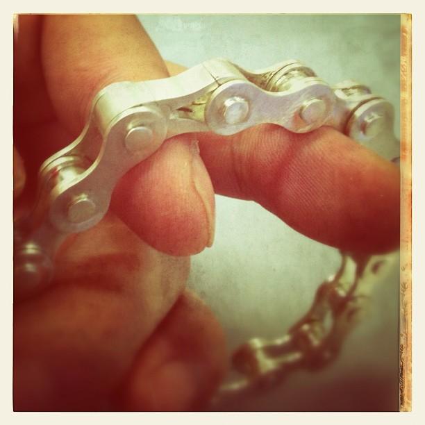 moto-chain bracelet