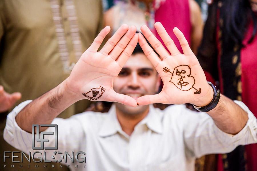 Ismaili groom on Mehndi night
