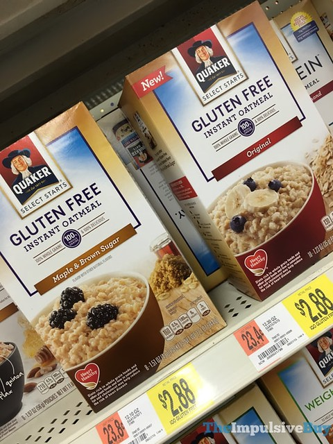 Quaker Select Starts Gluten Free Instant Oatmeal (Original and Maple & Brown Sugar)
