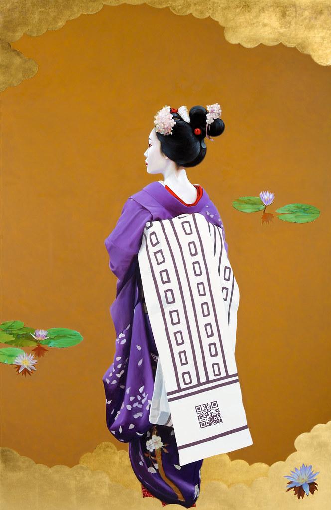Fabrice de Nola, Nymphaea, 2012, olio e acrilico su tela, cm 200 x 130. Fonte: Flickr.