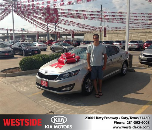 Thank you to Leopold Darcy on your new 2013 Kia Optima from Damon  Clayton  and everyone at Westside Kia! by Westside KIA