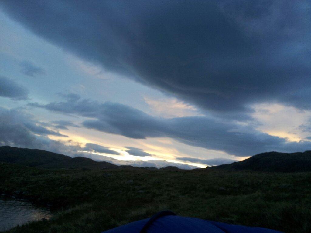 Sunrise this morning at Sprinkling Tarn