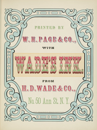 Specimens of chromatic wood type, borders 1874 - Columbia U (Wade's Ink printer's page)