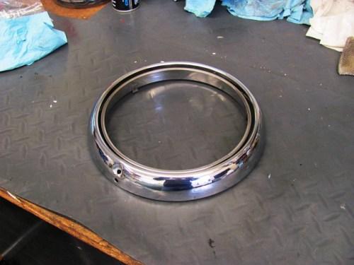 Polished Chrome Trim Ring & Headlight Bracket