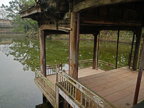 Gazebo Jutting out into the Pond at Tu Duc Tomb in Hue, Vietnam
