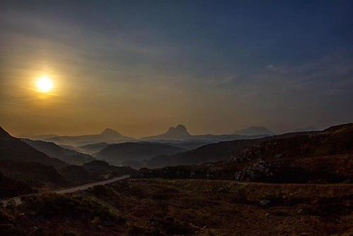 Suilven sunrise, the full picture. Canisp, Suilven, Cul Mor and Cul Beag, Sutherland, Northwest Scotland. by emperor1959