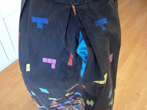 Tetris dress pocket lining