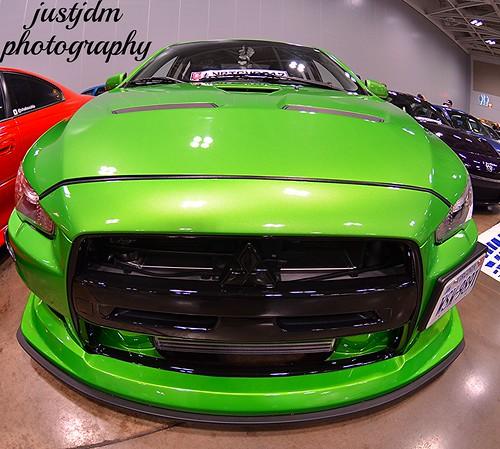 green mitsubishi evo (7)