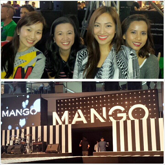 with Mommy Bloggers at Mango Rock It up