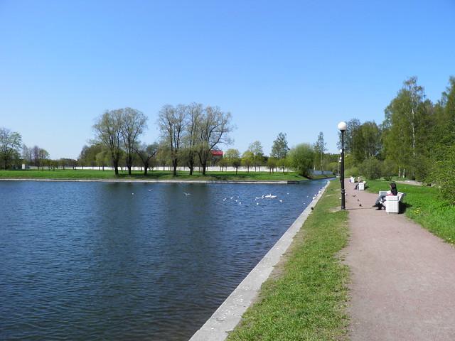 Дорожка вдоль пруда // Path along pond