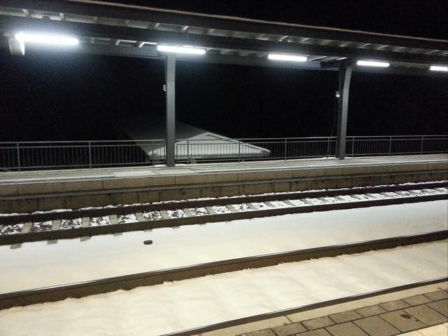 Bahnhof Leimbach im Schnee