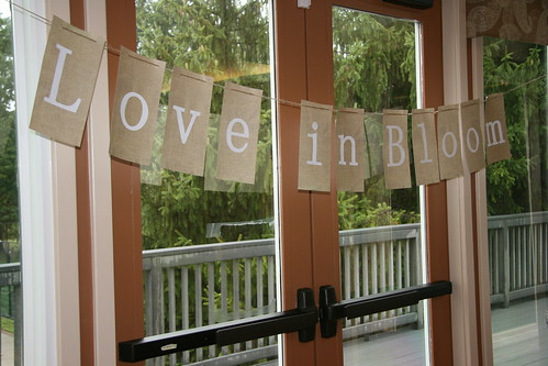 Love in Bloom banner sign