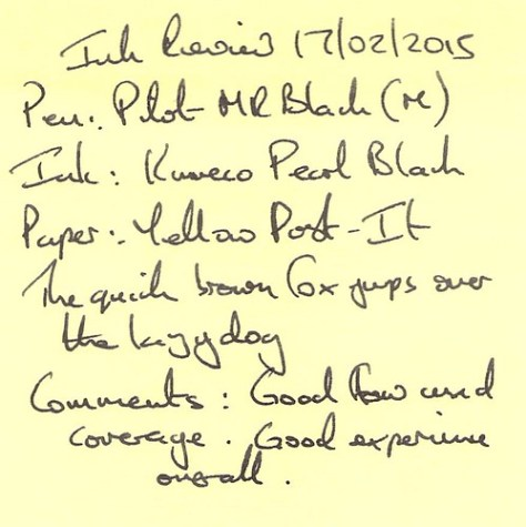 Kaweco Pearl Black Ink Review - Post It