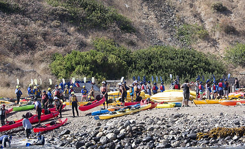 Santa Cruz Island: Kayakers!