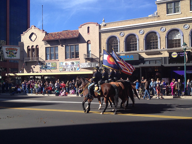 Horse Mounted Color Guard from Ft. Carson