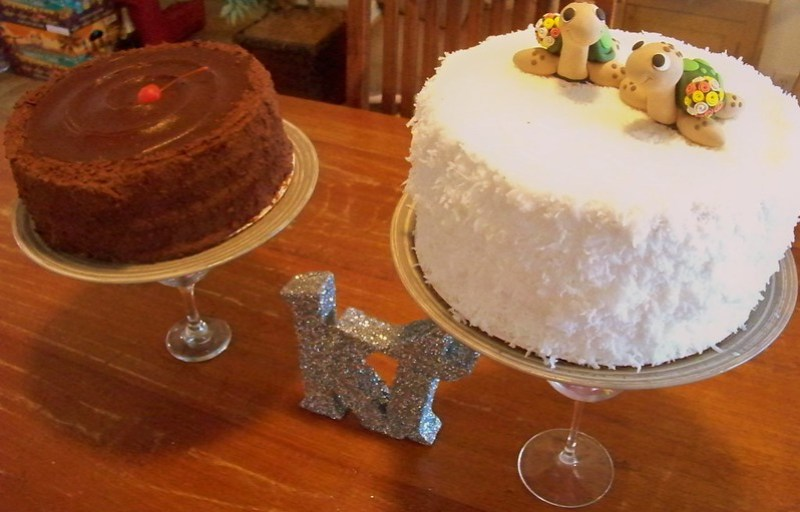 Chocolate Dobash and Coconut Dobash Cakes