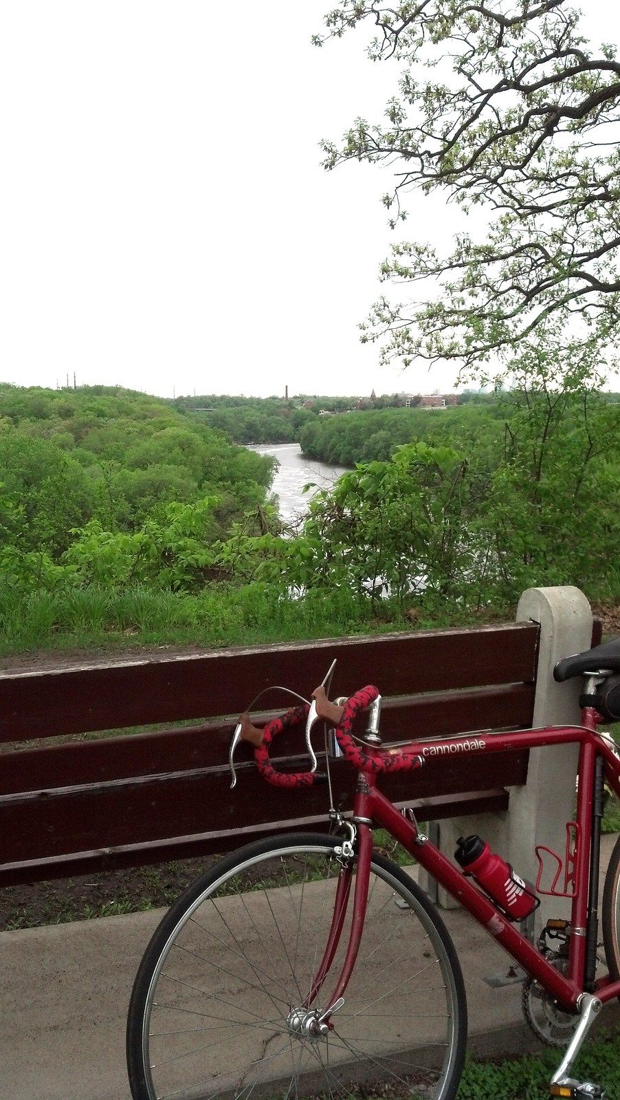 Bike, meet river.