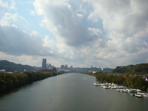 Allegheny River from 31st St. bridge - Oct. 4th 2013