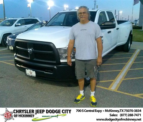 Thank you to Henry Sermersheim on your new 2013 #Ram #3500 from David Walls and everyone at Dodge City of McKinney! #BrandNewRide by Dodge City McKinney Texas