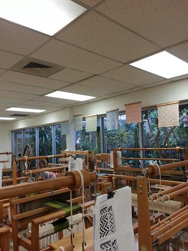 Weaving loom Guild studio view