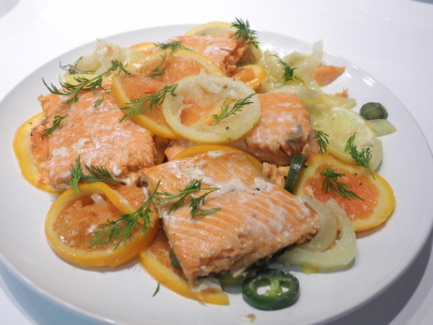 Slow Roasted Salmon With Citrus