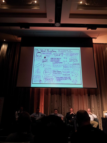 My sketchnote on the big screen