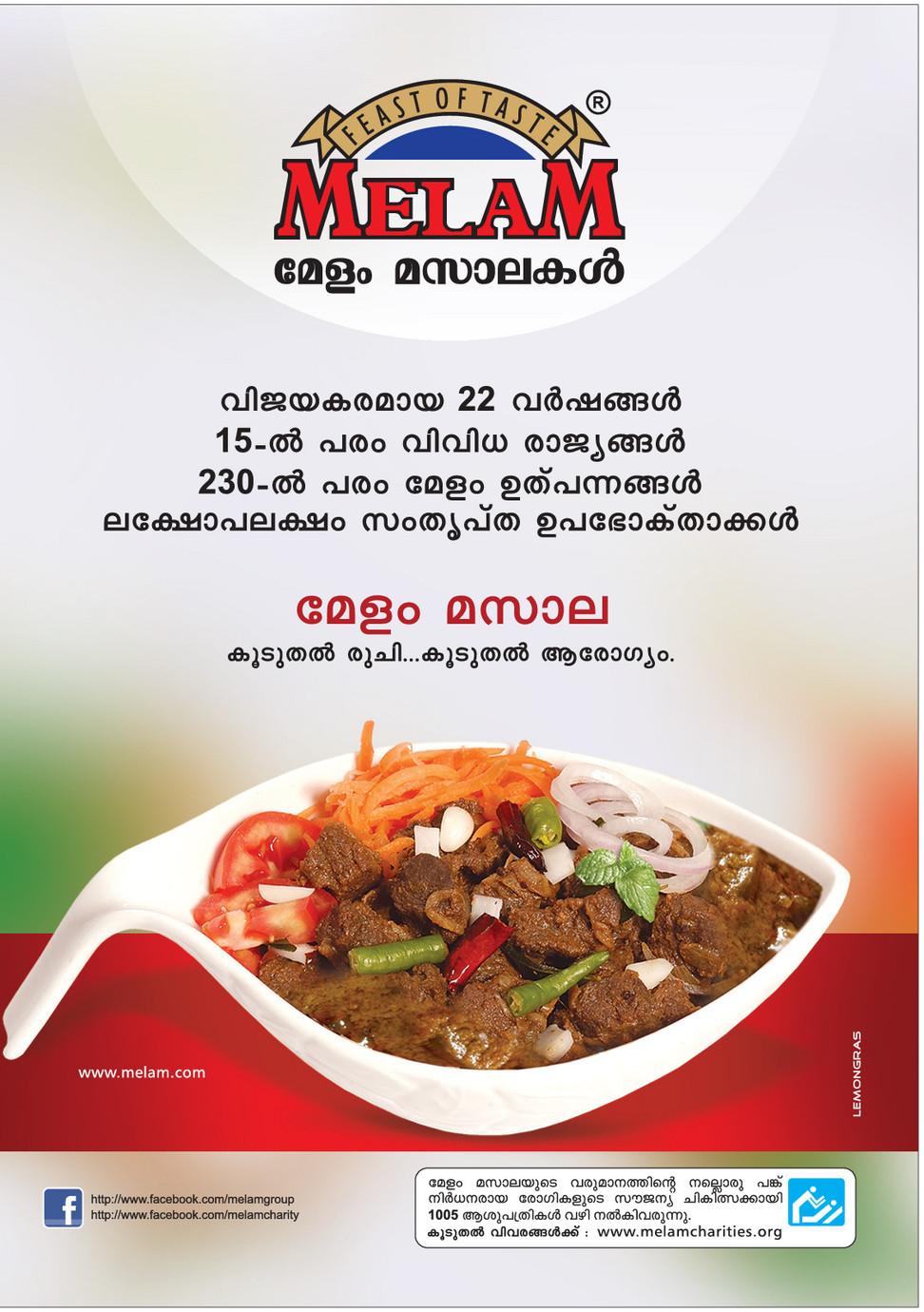 Spice (Masala) ads – Malayalam Advertising copy reference