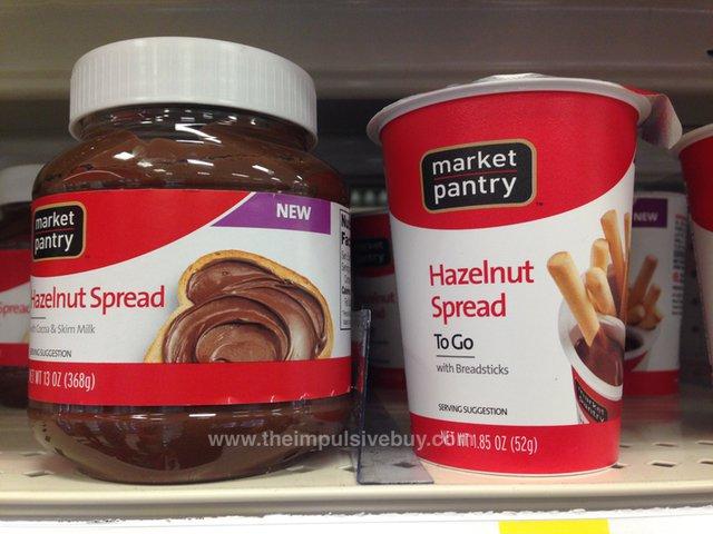 Market Pantry Hazelnut Spread and Hazelnut Spread To Go