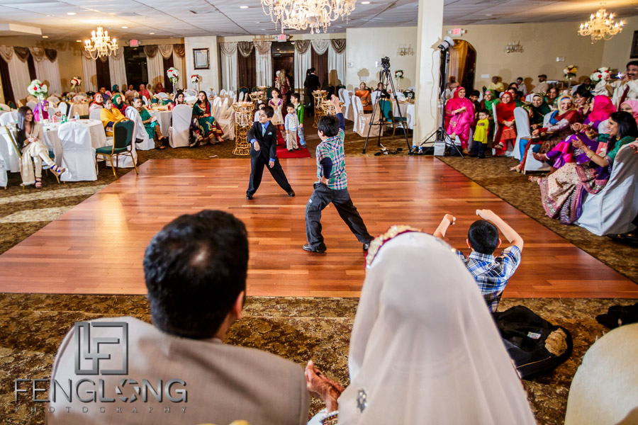 Kids dancing during Indian wedding reception