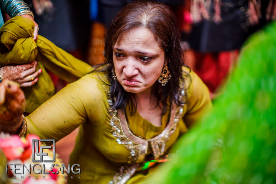 Groom's mother crying during Pithi ceremony