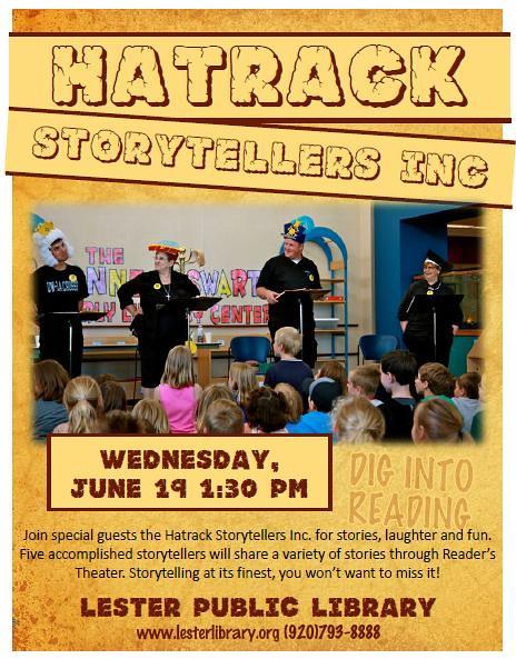 Hatrack Storytellers, Inc Dig into Reading