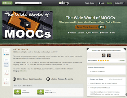The Wide World of MOOCs landing page