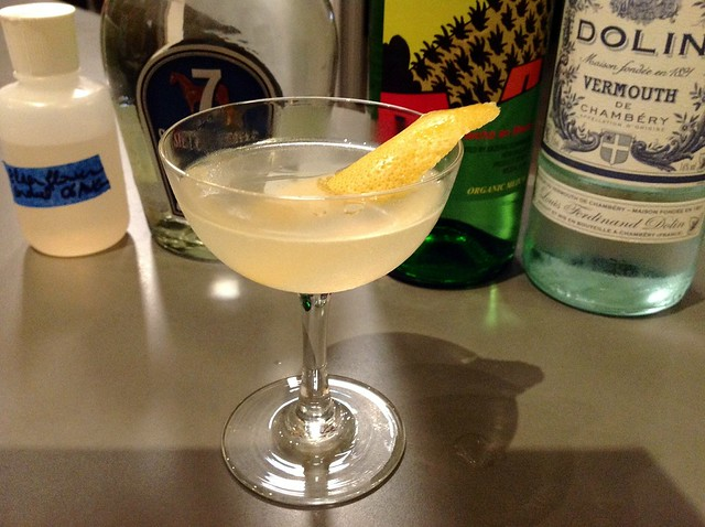El Puente (Jim Meehan): tequila, grapefruit, white vermouth, homemade elderflower cordial, mezcal rinse