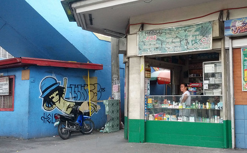 graffiti beside pharmacy