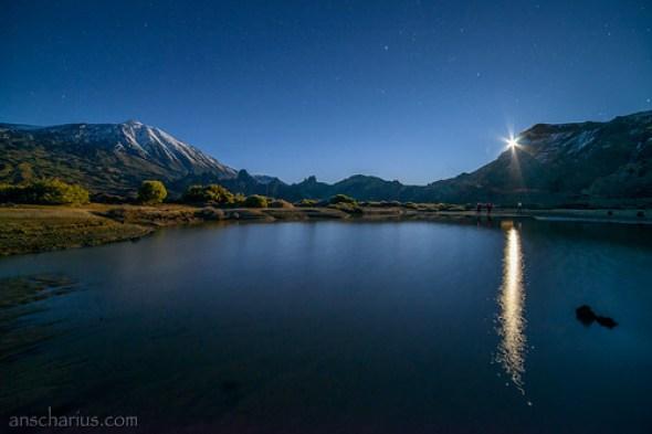Pico del Teide - Guajara - The Moon - Nikon D800E