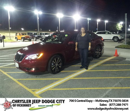 Happy Anniversary to Rhonda G Harrison on your 2013 #Chrysler #200Ch from Brent Villarreal  and everyone at Dodge City of McKinney! #Anniversary by Dodge City McKinney Texas
