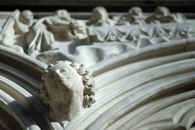 The frieze in the Chapter House at Salisbury Cathedral