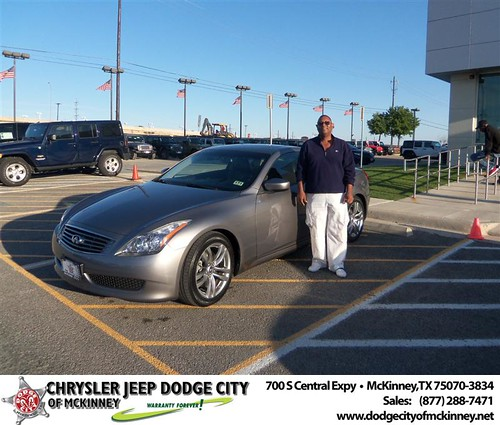 Dodge City of McKinney would like to say Congratulations to Jack Brown on the 2009 Infiniti G37 by Dodge City McKinney Texas