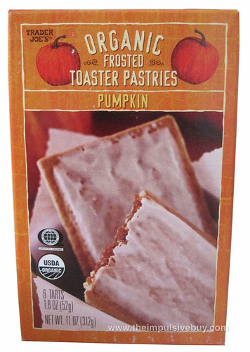 Trader Joe's Organic Pumpkin Frosted Toaster Pastries