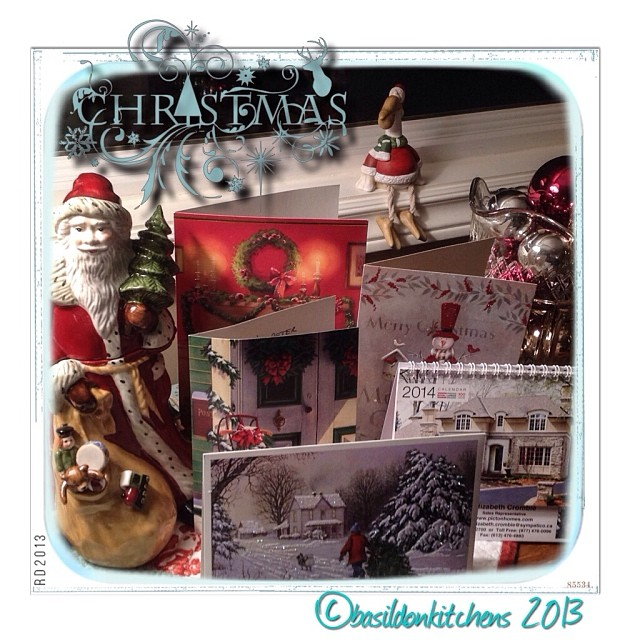 Dec 10 - cards {we don't get as many paper cards as we used to, but love them all; paper & electronic} #photoaday #cards #christmas #holidays #santa