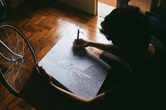 Draw a whale
