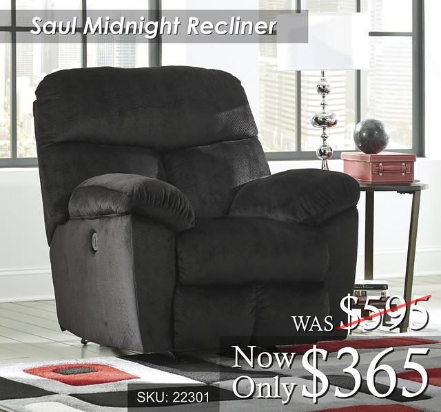 Saul Midnight Recliner