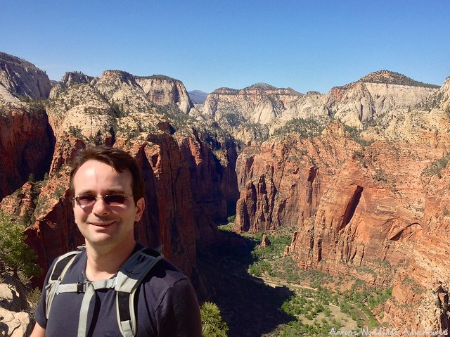 Posing for a Picture at the Top of Angels Landing