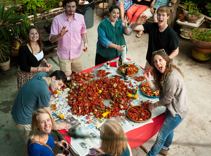 Crawfish Boil and Flip Cup