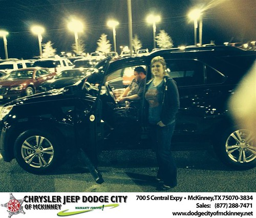 Thank you to Erin Mccabe on your new 2013 #Chevrolet #Equinox from Dale Graham Graham and everyone at Dodge City of McKinney! #NewCarSmell by Dodge City McKinney Texas