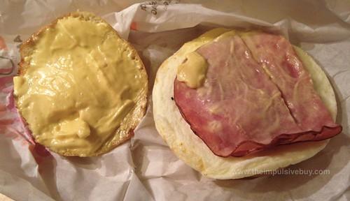 Dunkin Donuts Eggs Benedict Breakfast Sandwich 2