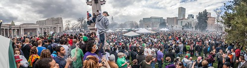 PANORAMIC OF DENVER 420 RALLY - Denver, CO 4.20.2013 by PhotoFM.com