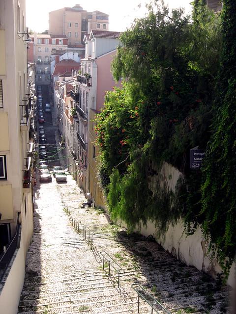 Lisbon, Portugal streets.