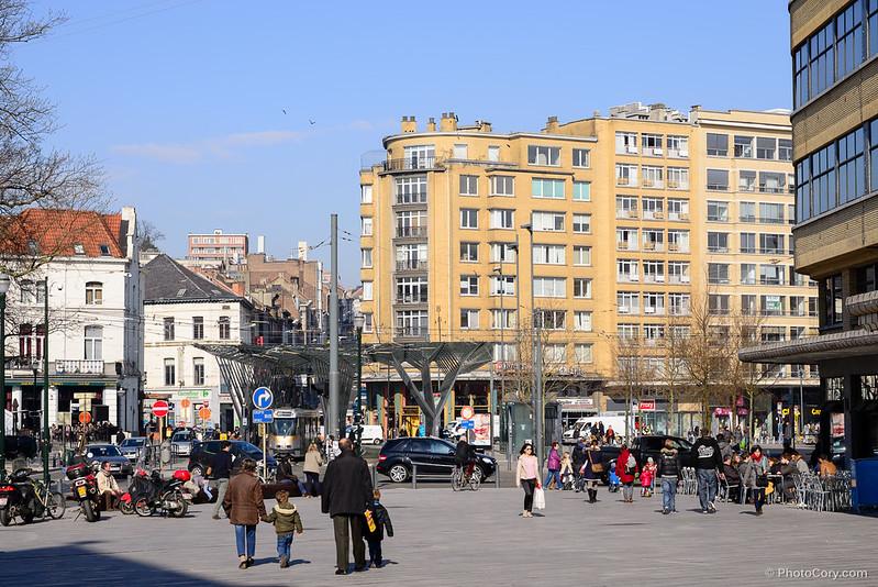 place flagey bus station cafe belga