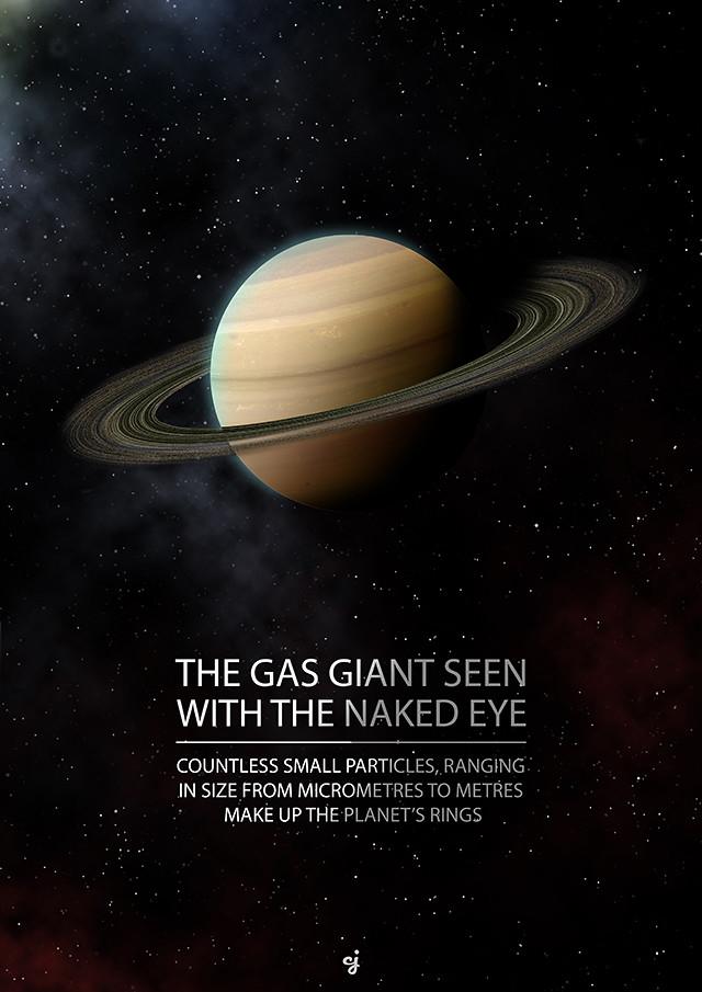 Saturn poster design